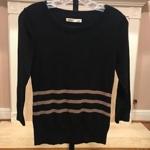 Old Navy black and brown striped sweater